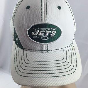 NY Jets white and green Logo youth baseball cap